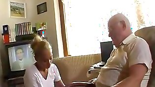 Touch grandpa poking his tight pussy