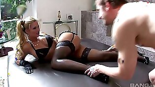 hot woman with a big round ass is getting her pussy nailed