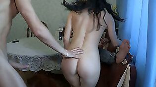 Barely Legal Brunette Housewife Bangs A Stranger