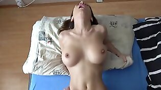 Wet footjob of a MILF with cum