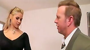 Guy fucked blond maid in the ass by her boss
