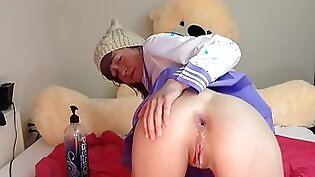 Blindfolded teen gets punished anal by horny dads dick