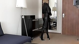 JOI Lightspeed Strokers Sexy Clam Blowjob Leather Gloves I
