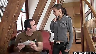 Horny girlfriend agrees to fuck at the office time!