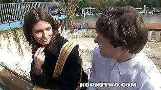 Amazing Teen Having Sex With A Young Guy