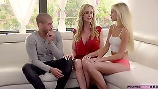 MILF Brandi Love pounded by disappointed boyfriend in shaved holes