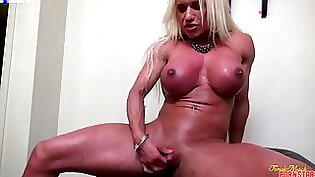 Busty Blonde Milf Plays With Her Toys
