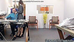 She Jizzed and Fucked in office