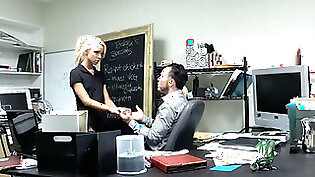 SemiSweet office hot blonde banging her boss floozy