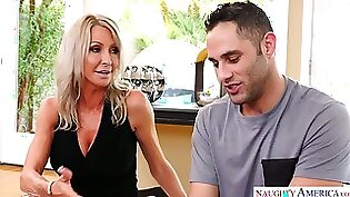 Cute busty mom meets her son and fucked