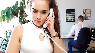 Amazing office slut is pulling her man to get some dick