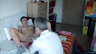 Young russian fucked by old dude nurse