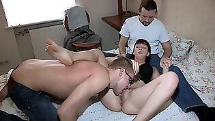 Adorable alluring chick is nailed by her fellow
