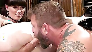Busty tranny Sophie vibe and gets fisted