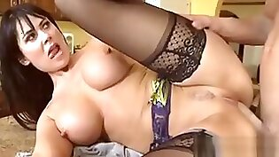 Mature babe fucked on the couch by her man!